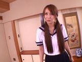 Bubble ass schoolgirl Jessica Kizaki gets fucked doggystyle picture 3