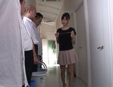 Mischievous Asian cock lover Tsukasa Aoi deepthroats hot guys picture 1