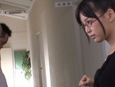 Mischievous Asian cock lover Tsukasa Aoi deepthroats hot guys picture 2