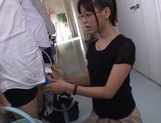 Mischievous Asian cock lover Tsukasa Aoi deepthroats hot guys picture 9