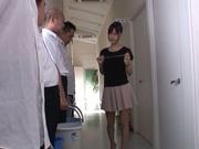 Mischievous Asian cock lover Tsukasa Aoi deepthroats hot guys