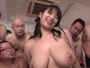 Hana Haruna pretty Asian chick has many hands on her huge boobs