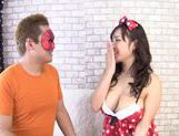 Busty hottie Azusa Nagasawa enjoys horny hunk picture 14