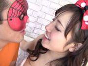 Busty hottie Azusa Nagasawa enjoys horny hunk