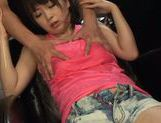 Oiled body of Nozomi Hazuki gets stroked be her partner picture 13