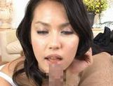 Maria Ozawa Asian MILF gives a hot blowjob picture 15