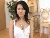 Maria Ozawa Asian MILF gives a hot blowjob picture 2