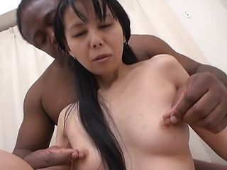 Voluptuous Japanese AV model is a mature chick riding black dick