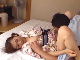 Mature eMiko Koike gets her cherry slamed well