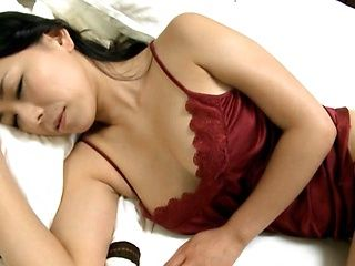 Busty and hot mature Japanese babe uses sex toys
