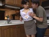 Mai Itou hot mature Asian babe gets fucked in the kitchen picture 15