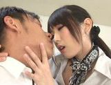 Chika Arimura Asian babe sucking and fucking hardcore picture 5