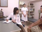 Appealing Japanese milf fucks her horny patient picture 2
