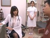 Appealing Japanese milf fucks her horny patient picture 3