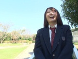 Nice AV girl in cheerleader uniform Eri Hosaka enjoys rear banging picture 11