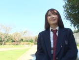 Nice AV girl in cheerleader uniform Eri Hosaka enjoys rear banging picture 12