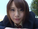 Nice AV girl in cheerleader uniform Eri Hosaka enjoys rear banging picture 13