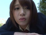 Nice AV girl in cheerleader uniform Eri Hosaka enjoys rear banging picture 15