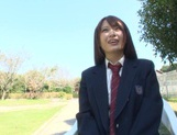 Nice AV girl in cheerleader uniform Eri Hosaka enjoys rear banging
