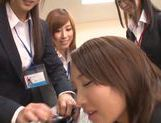 Beautiful Japanese AV models are hot office chicks pleasing boss picture 10