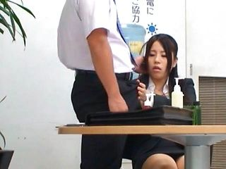 Teen Fucked In Her Office Suit In The Break Room