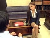 Astonishing Asian office lady Ayaka Tomoda masturbates and bounces on rod picture 14
