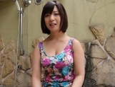 Foxy busty AV model Wakaba Onoue drills pussy with a toy and sucks rod