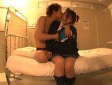 Asian schoolgirl Yuzu Ogura with big tits likes hard boner