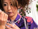 Luna Mikami Lovely Japanese model masturbates picture 1