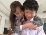 Lovely Yui Tatsumi teacher likes it deep and fast