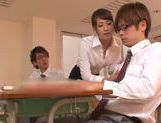Yui Ooba naughty Asian teacher is a kinky chick picture 12
