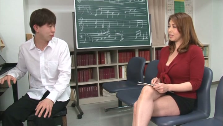 Horny music teacher Yumi Kazama gives an unusual music sex lesson picture 4