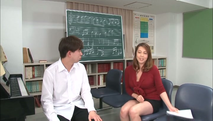 Horny music teacher Yumi Kazama gives an unusual music sex lesson picture 9