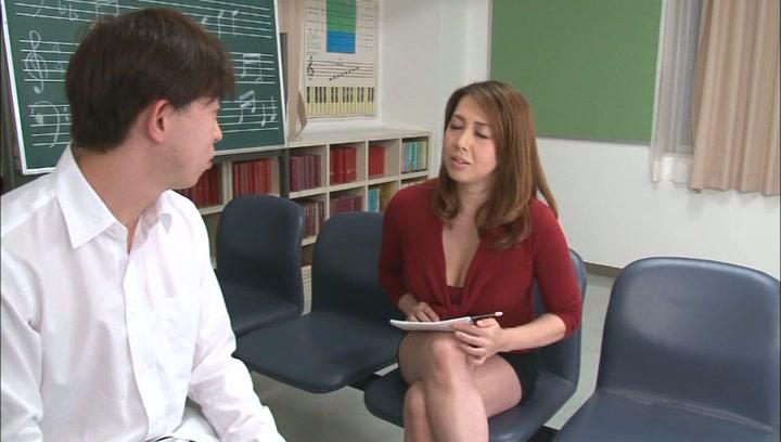 Horny music teacher Yumi Kazama gives an unusual music sex lesson