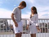 Nami Hoshino is a hot Asian female teacher