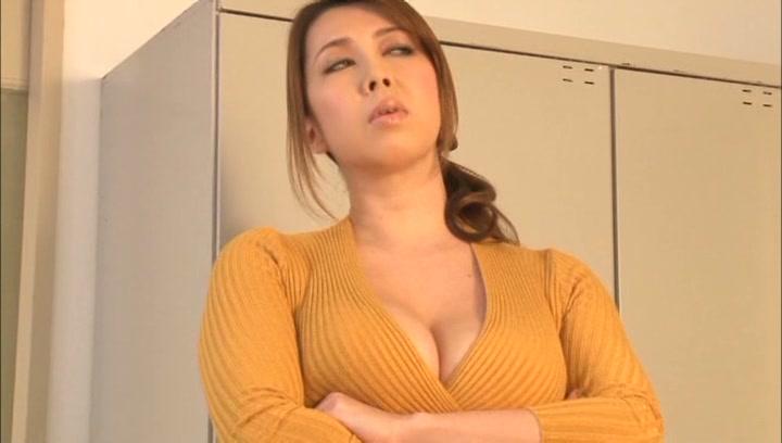 Busty Japanese teacher Yumi Kazama gets body and pussy stimulated
