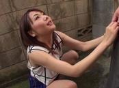 Ayako Kanou naughty Asian milf gives hot outdoor blowjob