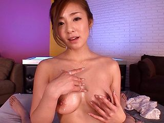 Busty milf Minori Hatsume pleases guy with her tits