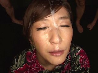 Horny Japanese milf Ichika Kamihata gives head enjoys a massive facial