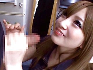 Skinny babe Erika Shibasaki gets dirty in oral scene
