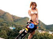 Enticing Japanese teen Tia enjoys sex on the beach