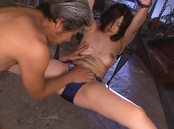 Tied up cutie Hikari Hino spreads legs and enjoys deep fucking