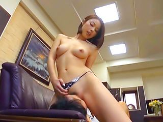 Riko Honda naughty Asian milf is horny office lady getting tit fuck