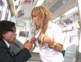 Sugary schoolgirl Megu Hazuki is screwed in a public place picture 12