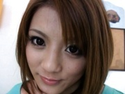 Risa Tsukino Asian model gets her juicy snatch fingered