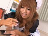 Kokomi Naruse is wearing a sexy maid suit ready to serve blowjobs for free picture 12
