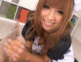 Kokomi Naruse is wearing a sexy maid suit ready to serve blowjobs for free picture 15