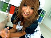 Kokomi Naruse is wearing a sexy maid suit ready to serve blowjobs for freeasian women, cute asian}