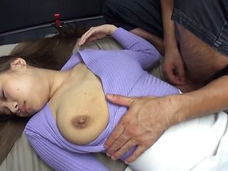 Lovely girl with big tits Mona Kasuga fucked by a crazy guy in a car