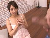 Arousing japanese hottie Himari Wakana enjoys oral picture 11